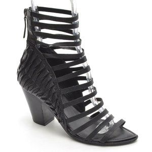 Haider Ackermann Black Strappy Cage Heels 37.5